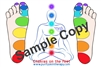 CHAKRA FEET CHART, laminated sheet to reference