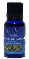 100% Pure Premium Grade, USDA Certified Organic Roman Chamomile Essential Oil by Purify Skin Therapy