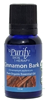 100% Pure Premium Grade, USDA Certified Organic Cinnamon Bark Essential Oil by Purify Skin Therapy