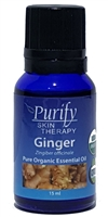 100% Pure Premium Grade, USDA Certified Organic Ginger Essential Oil by Purify Skin Therapy