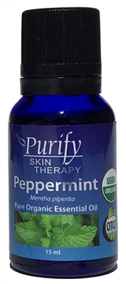 100% Pure Premium Grade, USDA Certified Organic Peppermint Essential Oil by Purify Skin Therapy