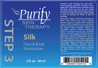 STEP-3, Silk Rose Twist Face and Body Moisturizer by Purify Skin Therapy