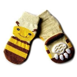 Big Dog Socks Yellow Bee