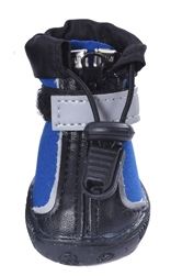 Zipper Rain & Snow Boots - Black & Blue