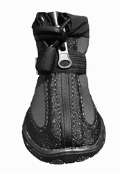 Zipper Rain & Snow Boots - Black