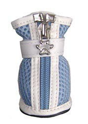 Dog Boots Mesh Leather Blue