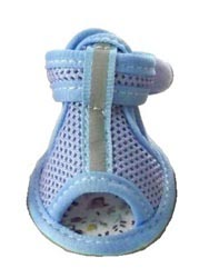 Dog Sandals Reflective Mesh Blue