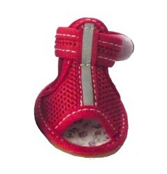 Dog Sandals Reflective Mesh Red