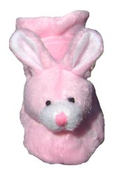 Dog Slippers Pink Bunny