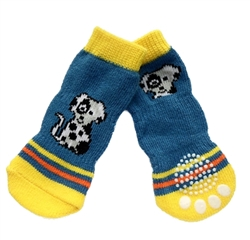 Dog Socks Blue Doggy