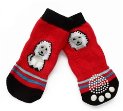 Dog Socks Red Doggy