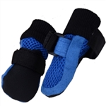 Mesh Summer Dog Booties Blue