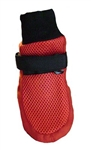 Mesh Summer Dog Booties Red