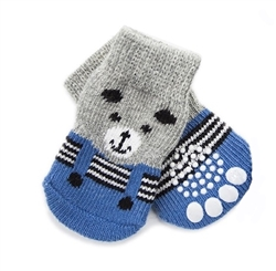 Tiny Dog Socks Blue Bear