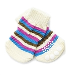 Tiny Dog Socks Pink Colorful Stripes