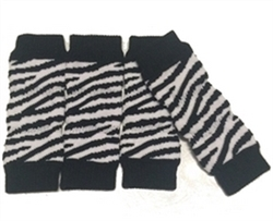 Dog Leg Warmers Zebra