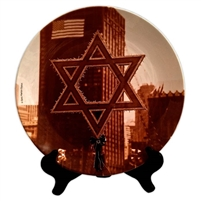 Ground Zero Star of David Porcelain Plate