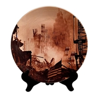 Sunset at Ground Zero Porcelain Plate