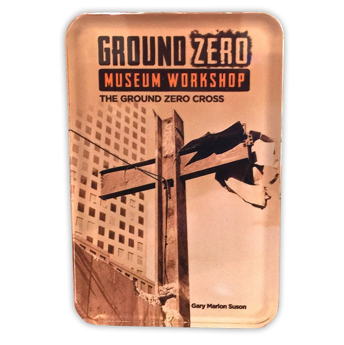 The Ground Zero Cross Acrylic Magnet