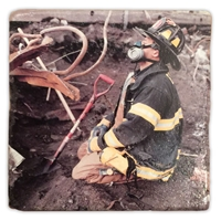 Oscar Prays at Sunrise Italian Marble Coaster Set