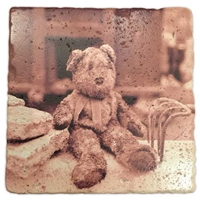 The Muddy Teddy Bear Marble Coaster Set
