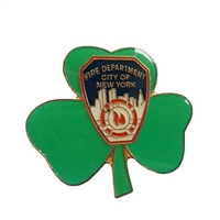 FDNY Badge Cloverleaf Pin