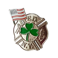 FDNY Cloverleaf Shield Pin