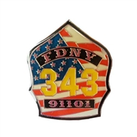 FDNY 343 Shield Pin