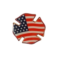 Flag Shield Lapel Pin