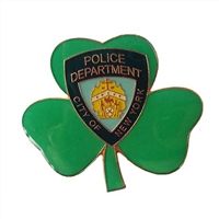 NYPD Badge Cloverleaf Pin