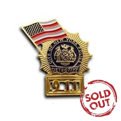 NYPD Detective 911 with Flag Pin