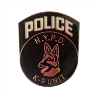 NYPD K-9 Unit Badge Pin