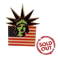 Statue of Liberty Flag Pin