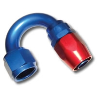 136 SERIES #4 180 DEGREE SINGLE NIPPLE HOSE END