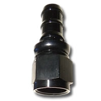 436 SERIES #6 STRAIGHT PUSH FIT HOSE END, BLK