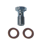 BANJO BOLT - 10MM X 1.00 LONG BANJO BOLT - 24MM LONG,  REQUIRES (2) 10MM WASHERS - NOT INCLUDED
