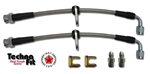 HONDA 1990-1991 CIVIC CRX SI REAR DISC WILWOOD FRONTS - 2 LINE KIT