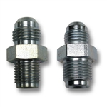 POWER STEERING BOX FITTING SET: -6 JIC TO 1/2-20 Inverted and -6 AN Male to 5/8-18 Inverted