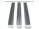 "Half Height (2U/4U) Vertical Supports - 7"" set of 2"