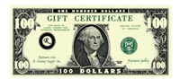 Gift Certificate $100 Gift Card for Use on Any of our Products or Services