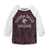 League TFC Heather Maroon Intramural Baseball Tee