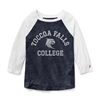 League TFC Heather Navy Intramural Baseball Tee