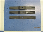 Set of 3 Replacement Blades for Most 4ft Finishing Mowers 4ft Finishing Mowers Caroni # 48007700 Maschio # T14004030