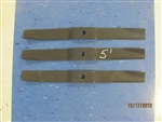 Set of 3 OEM BLADES FOR MASCHIO AND CARONI FINISHING GROOMING MOWERS MASCHIO T14004010 CARONI 59006200 5 FT CUT FINISHING MOWER BLADES