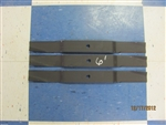 Set of 3  6' Finishing/Grooming Mower Blades MASCHIO T14004020 CARONI 71001000 DEL MORINO SRM312D CURTIS SITREX 100.066 OEM 6' FINISHING MOWERS