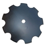 "22"" Notched Harrow Disc Blade with 1-1/8 or 1-1/4"""" Square"