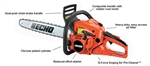 "Echo CS-490 Chainsaw 18"" Bar 50.2cc 5 Year Warranty"
