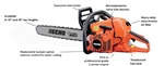 "Echo CS-590 Chainsaw 20"" Bar 59.8cc 5 Year Warranty"