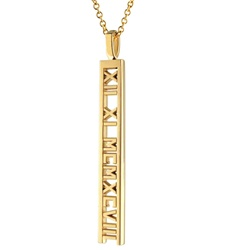 Numeros™ Ladder Pendant - 14K Yellow or White