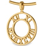 Pierced Numeros™ Medallion - 14K Yellow or White